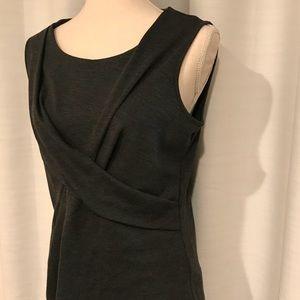 Spense gray sleeveless top size L